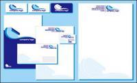 企業 VI シンプルな青色のテンプレート ベクトル材料