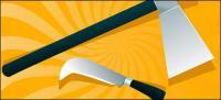 hachas y cuchillos