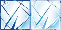 Matériau de verre fissuré vecteur