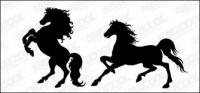 ม้ารูปเงาดำเวกเตอร์วัสดุ-2