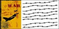 O tema do vetor de material de guerra