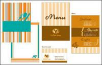 Material de vector de plantilla de menú tarjeta de catering