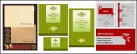 3 conjuntos de menus, tais como material de vetor de modelo de cartão de visita
