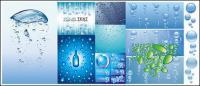 様々 な水ベクトルの背景素材