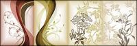 material de vectores de patrón de flores