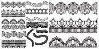 Material de vectores de patrón de encaje de gracia