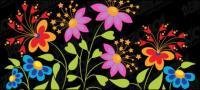 Hermosa mariposa en forma de flores de material de vectores