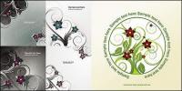 Otro 5 moda flores patrón material de vectores