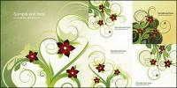 5 แฟชั่นดอกไม้รูปแบบเวกเตอร์วัสดุ