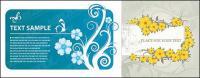カード ベクトル ファッション花パターン ma