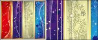 夢のバナー型垂直パターン ベクトル材料