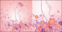 एक औरत के आकार का फूल लाइन वेक्टर सामग्री के साथ प्यार कर सकते हैं