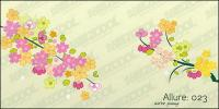 Прекрасные цветы, филиалы векторный материал