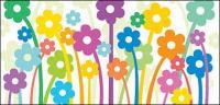 Flores encantadoras vector material de ilustración