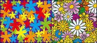 flores encantadoras vector material de antecedentes