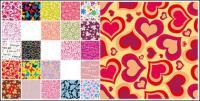 Variedad de material de antecedentes de azulejo de vector práctico