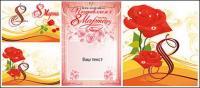 Tema de rosas material de ilustração vetorial