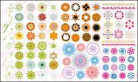 Mehr als einem kreisförmigen Muster Vektor materiell Mode