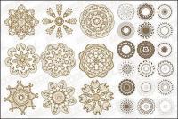 古典的な円形パターン ベクトル材料の数