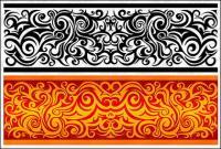 実用的な古典的なパターン ベクトル材料