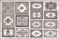 Variété de pratiques de style européen dentelle frontière vecteur matériel