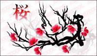 벚꽃 벡터 자료