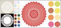 Material de vetor clássica padrão circular