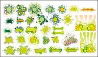 緑色のファッション パターン ベクトル材料