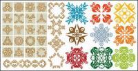 さまざまな実用的な素材の古典的なパターン ベクトル