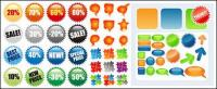 4 sets of web design icon vector material