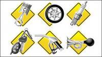Matériau vecteur de Auto Parts série icône