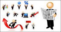 事業者のアイコン イメージのベクター素材