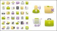 Web дизайн серый зеленый Purple значок векторного материала