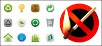 Umweltschutz und das Verbot der Feuer Material Vector icon