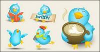 Imagen vívida de twitter icono material de vectores
