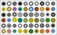 さまざまなクラシックの要素を円形パターン ベクトル材料 - 2