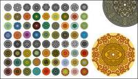 Variedad de elementos clásicos en un patrón circular vector material-1