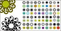 다양 한 클래식 요소 원형 패턴 벡터 자료-3