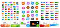 ファッション インク要素ベクトル材料-3