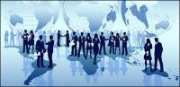 Der Business-Welt-Vektor-material