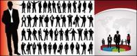 ธุรกิจคน silhouette tortillas เวกเตอร์และวัสดุทางสถิติ