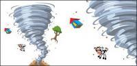 Material de vetor de Cartum tornado
