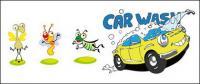 昆虫とベクトル漫画車素材