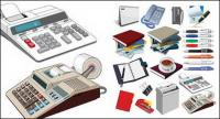 Matériau de vecteur de fournitures de bureau