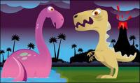かわいい恐竜のベクター素材