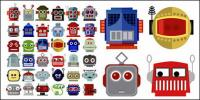 Número de vectores de material cabeza robot