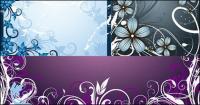 ファッションの花フレーム素材