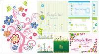 Variété de patrons de fleur de style lovely vecteur matérielles