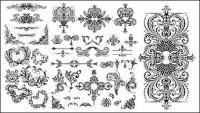 Множество практических Европейского стиля кружева модели векторного материала