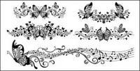 Material de vetor de padrão de bela borboleta